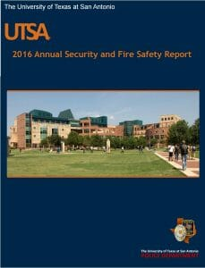 2016 UTSA Annual Security & Fire Report